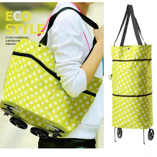 Loxin☆牛津布折疊兩用拖輪包【SA0854】拖輪包/購物袋/購物車/行李包/行李箱