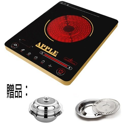 APPLE 蘋果 超薄觸控式不挑鍋電陶爐 AP-i3818贈鍋+盤