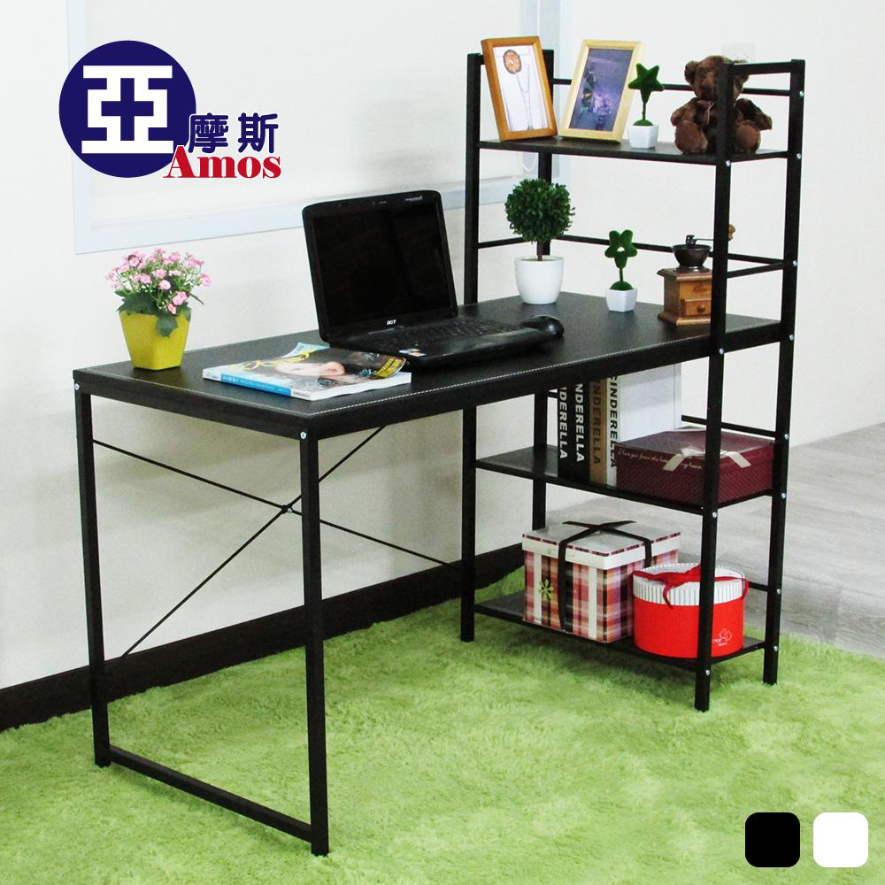 辦公桌 電腦桌 書桌【DCA018】樂活馬鞍雙向層架式多功能120*60大桌面工作桌 (2色可選) Amos 台灣製造
