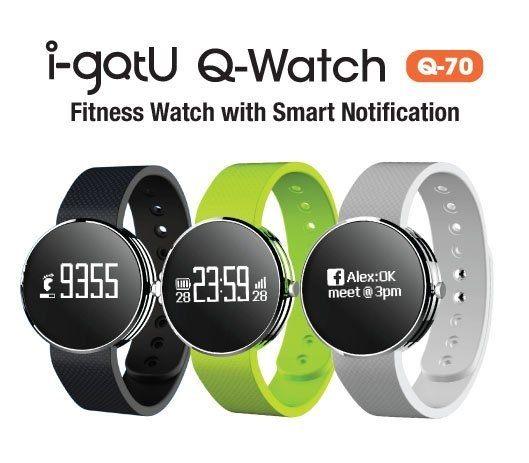 福利品出清 ★ i-gotU 雙揚 Q-Band Q70 智慧藍牙手錶 穿戴裝置 IPX7防水 健身路跑