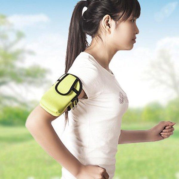 BO雜貨【SV9518】跑步運動男女素面黑邊手機收納 魔鬼氈手臂套 慢跑聽音樂 健身跑步 手機臂帶掛包
