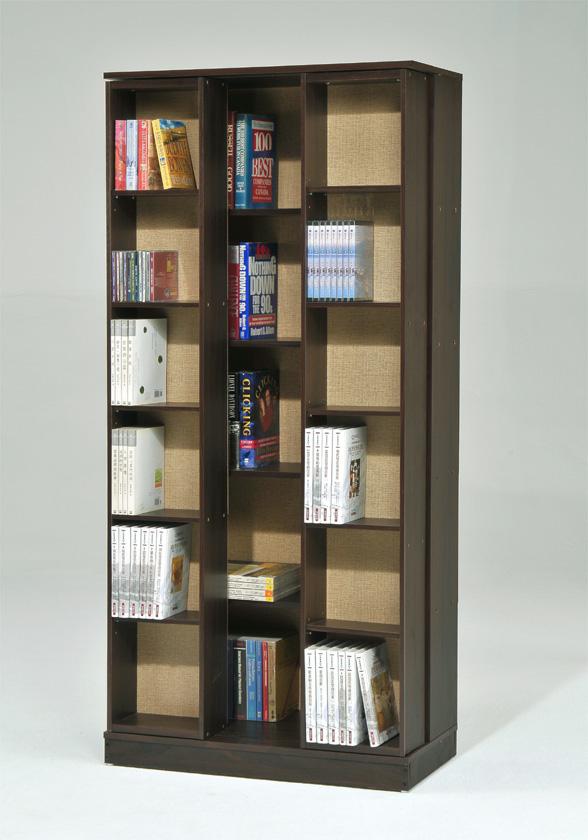 ONE家具-DIY-全新日式雙排活動書櫃 白 胡桃 櫸木免運