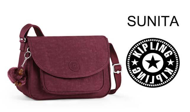 OUTLET代購【KIPLING】葡萄酒紅側背包 旅行袋 斜揹包