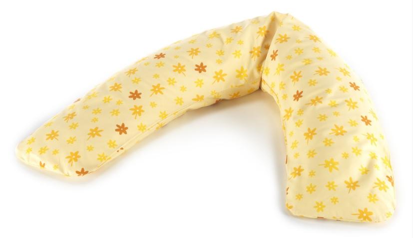 【淘氣寶寶】【德國 Theraline 哺乳育嬰月亮枕 新款上市180公分】舒適型妊娠及育嬰枕頭-小黃花