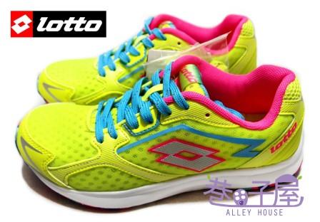 【巷子屋】義大利第一品牌-LOTTO樂得 RUNNING女款疾風路跑鞋 196g [2234] 螢光黃 超值價$590
