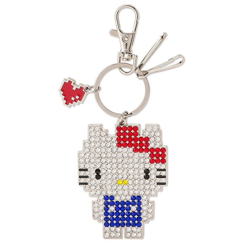 KITTY水鑽鑰匙圈吊飾掛件像素遊戲風系列516904海渡