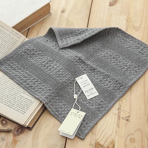 紀州備長炭系列 蜂巢手帕 25X25cm 毛巾/ UCHINO日本內野