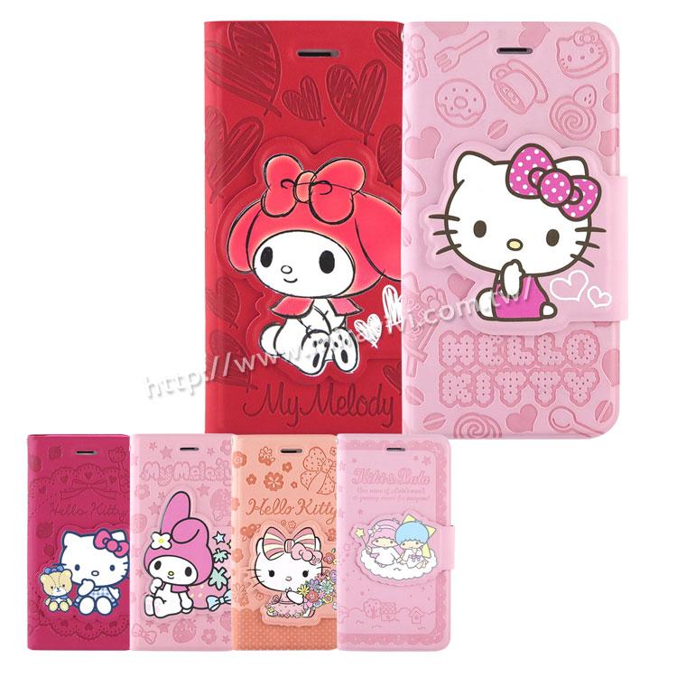 【Sanrio 】iPhone 6 Plus/6s Plus 彩繪皮革筆記本式皮套-KITTY/MELODY/KIKILALA