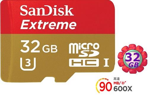 SanDisk 32GB 32G microSDHC【90MB/s】Extreme 600X microSD micro SD SDHC UHS UHS-I 4K U3 Class 3 C10 Cla..