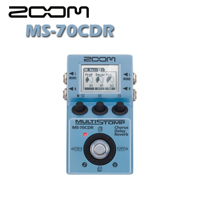 【非凡樂器】ZOOM MS-70CDR 綜合單科效果器【延音、殘響、和聲】公司貨保固/贈導線
