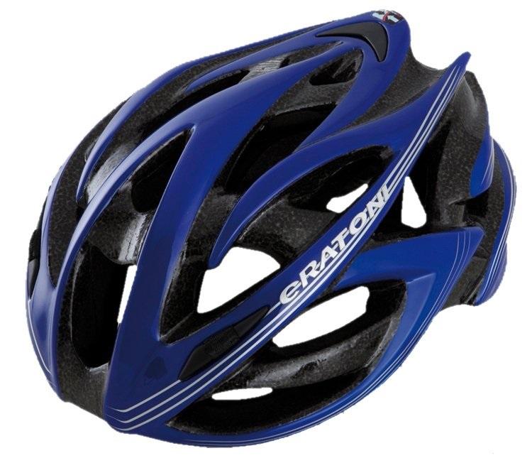 【7號公園自行車】德國 CRATONI BULLET 輕量化公路車安全帽(藍銀)