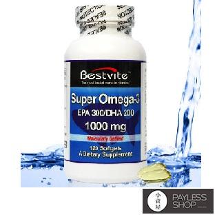 【小資屋】美國Bestvite 必賜力 超級Omega-3魚油膠囊 有效日期2018.8