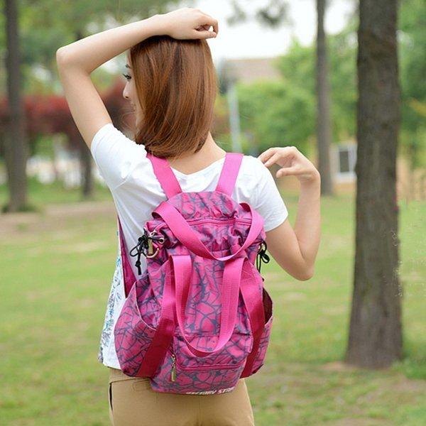 多功能後背包 旅行背包 水墨紋束口袋背包 側背包包 手提包 媽媽包--背包客棧--夏日時光