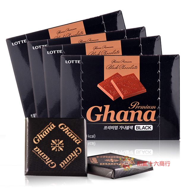 【0216零食會社】LOTTE加納黑巧克力90g