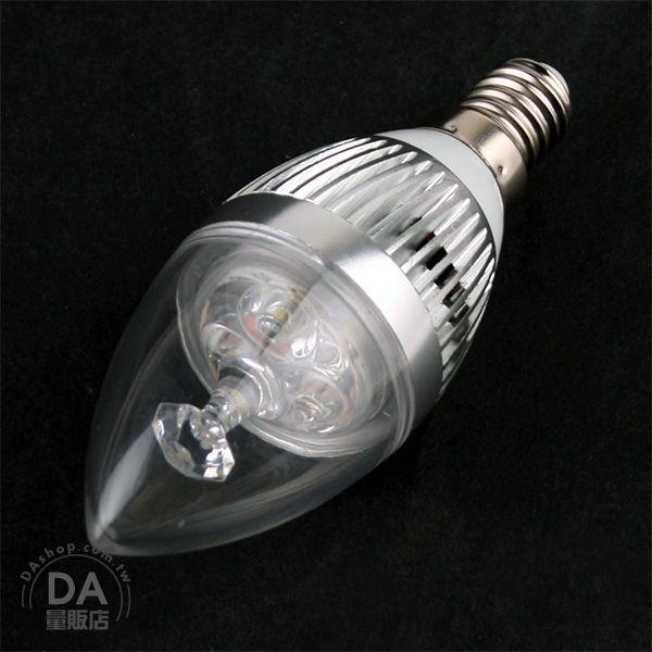 《DA量販店》E14 3W LED 水晶燈 蠟燭燈 壁燈 小螺旋燈 省電 燈泡 白光(17-1455)