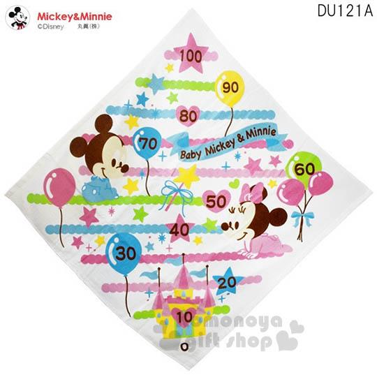 〔小禮堂嬰幼館〕迪士尼 米奇米妮 嬰兒包巾《大.白.嬰兒裝.氣球.身高尺》四季皆適用