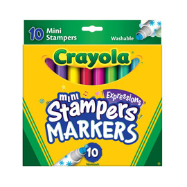 【悅兒樂婦幼用品?】繪兒樂Crayola 可水洗迷你印章色筆10色