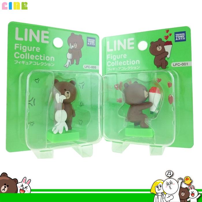 大田倉 日本進口正版 LINE 熊大 抓兔兔 拿花束 擺飾 收藏 裝飾品 桌上小物 公仔 玩偶 公仔娃娃