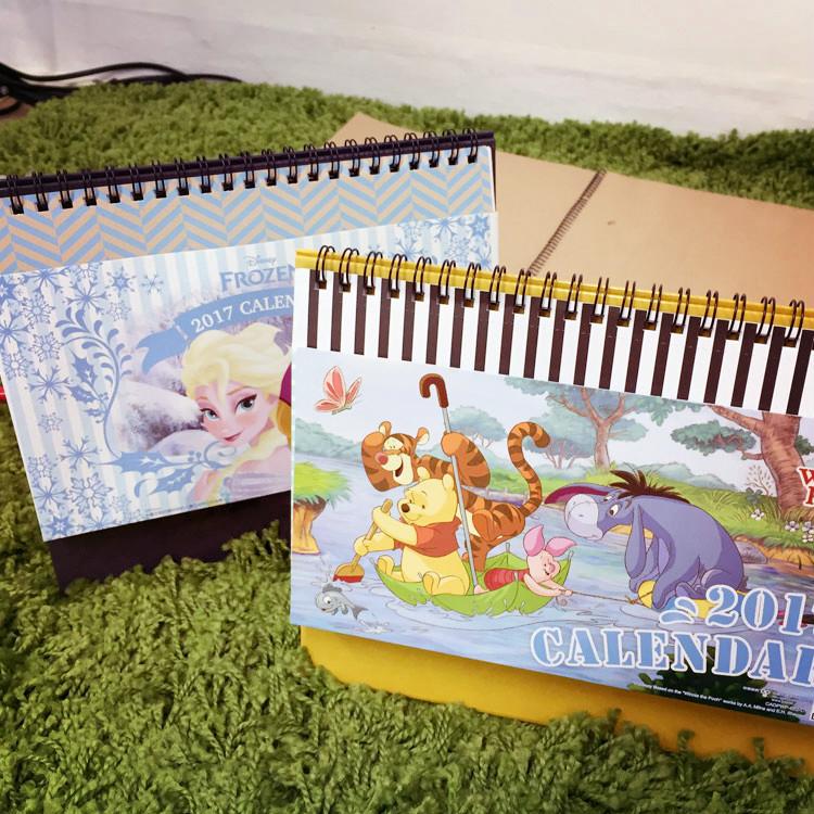 PGS7 (現貨+預購) 迪士尼系列商品 - 迪士尼 2017 收納 桌曆 月曆 日曆 行事曆 冰雪奇緣 小熊維尼