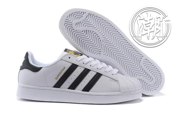 Adidas SuperstarI 街頭經典 愛迪達 金標 黑白 復古百搭 男女 情侶鞋 休閒鞋【T0143】潮