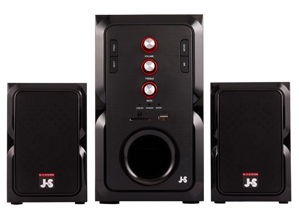 【迪特軍3C】JS JY3082 全木質多媒體喇叭 髮絲紋設計 USB+SD插槽 2.5吋全音域單體