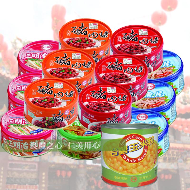 台糖 特選罐頭澎湃組(三明治鮪魚+香筍鮪魚+鮪魚片+五香肉醬+香辣肉醬+玉米粒)