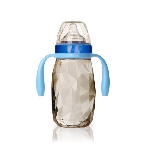 ★衛立兒生活館★kidsme PPSU 鑽石奶瓶300ml-藍