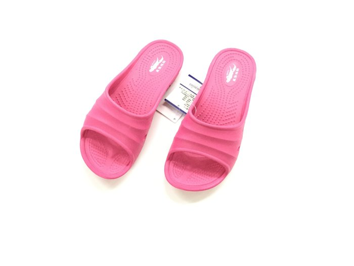 ※555鞋※桃紅色 母子鱷魚 馬卡龍色 浴室 海灘 防水 拖鞋 一體成形 氣墊 超舒適運動休閒拖鞋