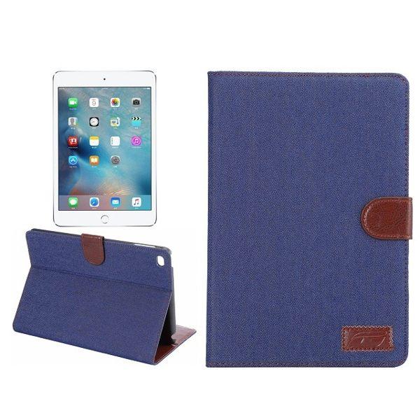 蘋果Apple iPad Pro 12.9吋 保護套 牛仔紋支架插卡皮套 側翻平板保護殼【預購】