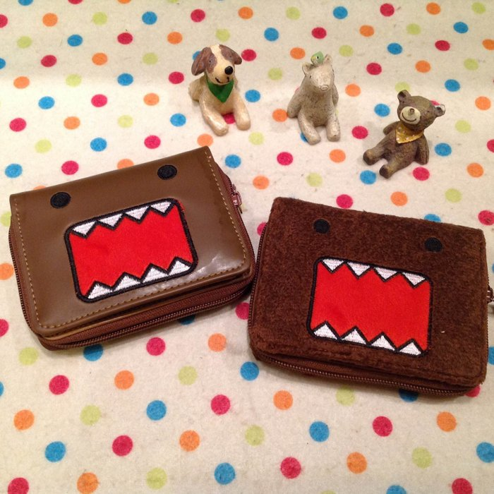 =優生活=日本多摩君Domo橫式立體造型短夾 卡通皮夾DOMO造錢包 證件包 拉鍊夾層款