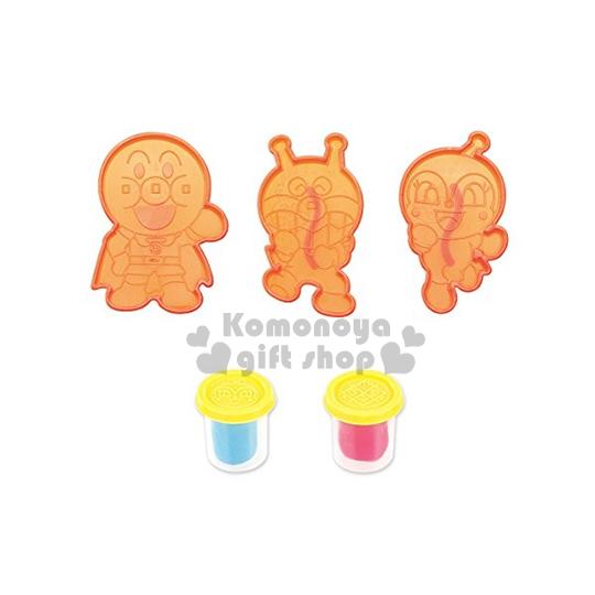 〔小禮堂嬰幼館〕麵包超人 黏土模具組《麵包超人.細菌人.小病毒.橘盒》適合3歲以上孩童