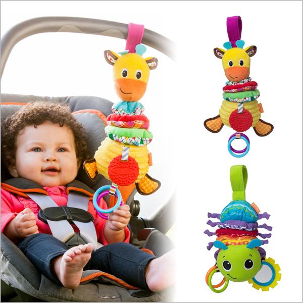 寶寶安撫音樂拉鈴 /可愛動物嬰兒床音樂拉鈴床掛 嬰兒床掛鈴 附牙膠 推車嬰兒安撫玩具【JoyBaby】