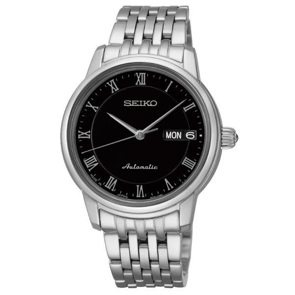 Seiko Presage 4R36-04F0D(SRP885J1)經典羅馬雙日曆機械腕錶/黑面34mm