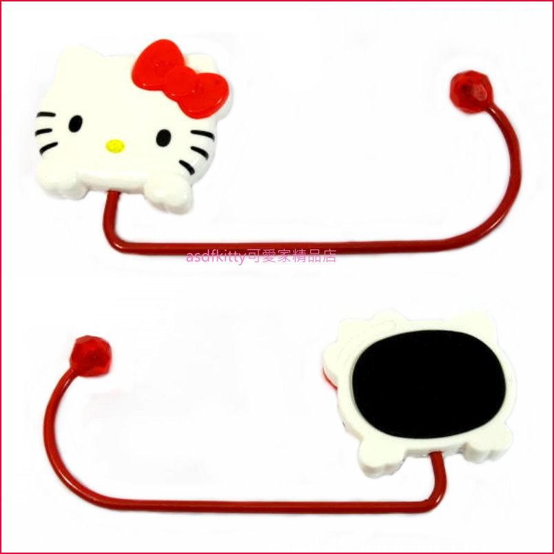 asdfkitty可愛家☆KITTY桌邊型隨意掛勾-免黏貼-可掛包包或袋子-日本正版商品