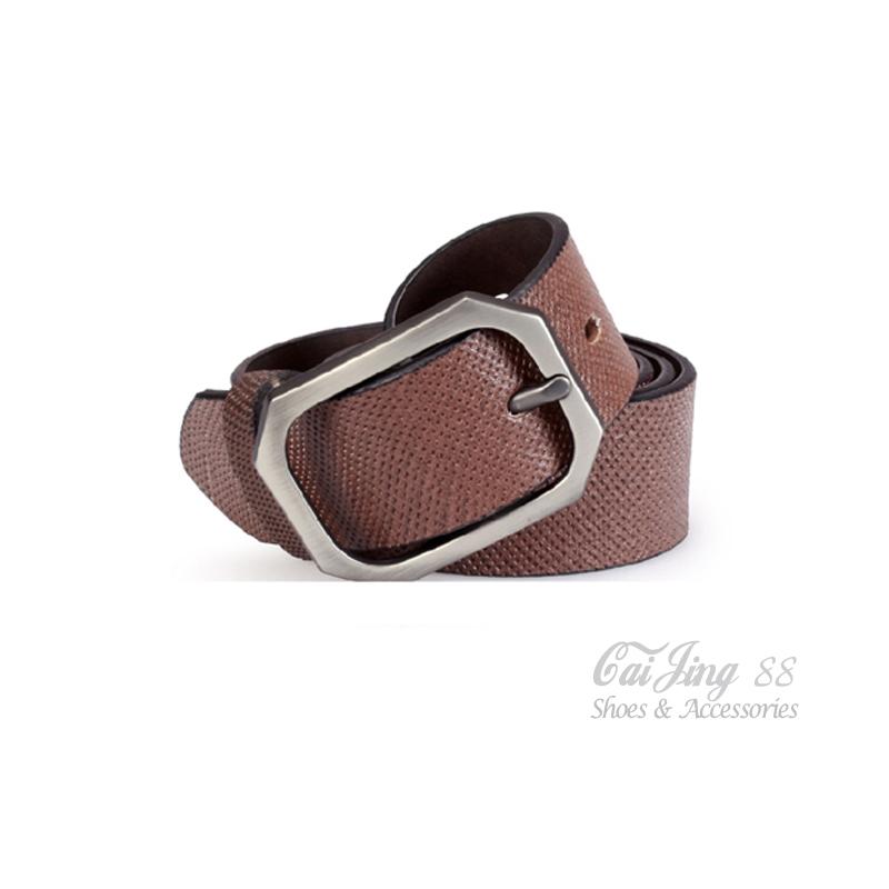 真皮皮帶 點紋紳士真皮正裝皮帶 咖 采靚鞋包精品 MIT台灣製 CK02