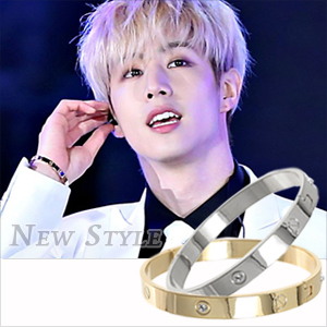☆ New Style ☆ GOT7 Mark 段宜恩 鎖住幸福 同款永恆之愛精鋼手環 ( 單只 )
