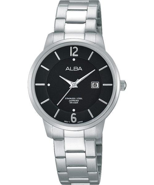 ALBA VJ22-X203D(AH7G43X1)簡約都會時尚腕錶/黑面30mm