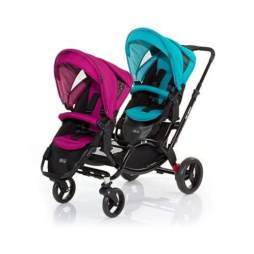 ★衛立兒生活館★德國 ABC Design ZOOM雙人推車/嬰兒手推車-時尚藍紫【好禮二選一】
