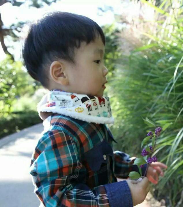 韓國秋冬童裝~正韓嬰童繽紛鋪毛脖圍 領巾-短 現貨