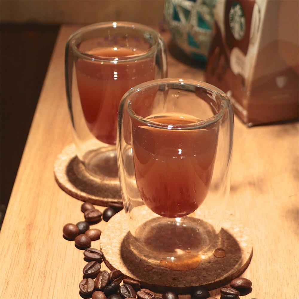 Artist精選 耐熱玻璃ESPRESSO雙層咖啡杯100ml-2入(MF0364S)