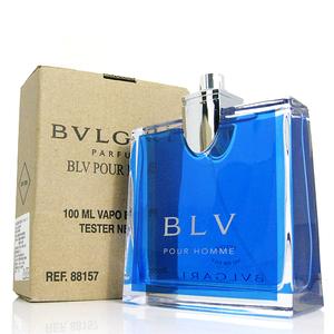 香水1986☆BVLGARI BLV Pour Homme 寶格麗藍茶男性淡香水 TESTER 100ml