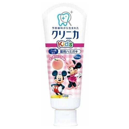 日本【獅王 LION】米奇老鼠幼兒牙膏