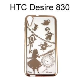 迪士尼電鍍軟殼[項鍊]愛麗絲 HTC Desire 830【Disney正版授權】