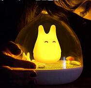 童話景觀超萌小精靈LED床燈/小夜燈-活力橙