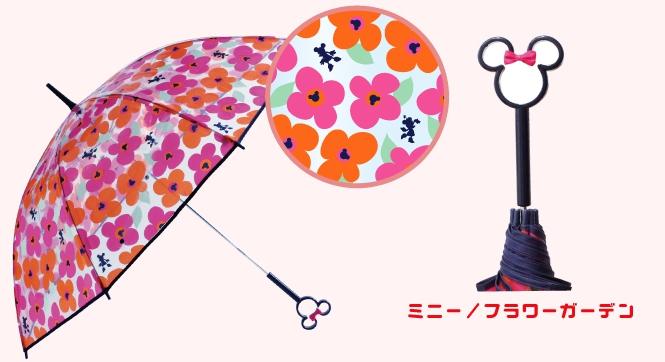 『日本代購品』黑柄花朵米妮款 日本代購 迪士尼 米妮鏤空造型把手 透明直傘 雨傘