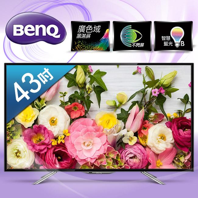 【BenQ】43吋廣色域LED液晶顯示器+視訊盒/43IW6500-DT-146T