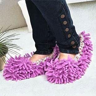 =優生活=((ㄧ雙只要$99 清潔的好幫手))超細纖維雪尼爾 懶人清潔鞋套 可直接穿上地板鞋 簡單做清潔