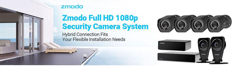 SHO: Zmodo Full HD 1080p Security Camera System w/Repeater, 4 x