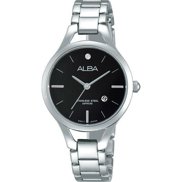 ALBA VJ22-X204D(AH7G45X1)簡約時尚淑女腕錶/黑面30mm