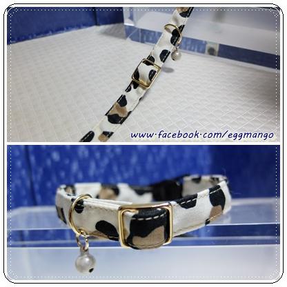 【蛋董?手作】貓貓安全扣項圈『乳牛』,高級進口布製作,舒適有型!!